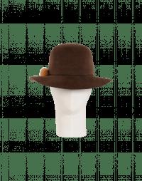 DRIFTER: Cappello marrone in feltro di coniglio
