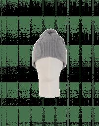 ASPECT: Pale grey cable stitch bobble tassel hat