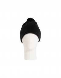 ASPECT: Black cable stitch bobble tassel hat