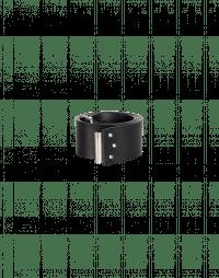 PERTAIN: Cintura alta regolabile in pelle nera