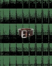 SWITCH: Cintura sottile in pelle marrone