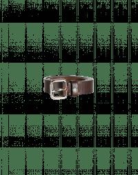 OBEY: Slim width belt in dark brown leather