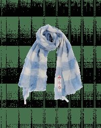BOUNTY: Sciarpa a quadri color crema e azzurro
