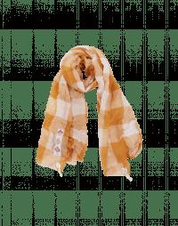 BOUNTY: Sciarpa a quadri color crema e rosa pallido