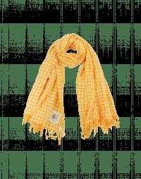 PERFECTLY: Sciarpa quadrettata giallo e bianco