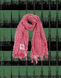PERFECTLY: Sciarpa quadrettata rosso e bianco