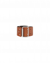 COMPLIANT: Cintura alta in pelle con gancio in metallo