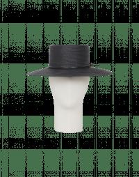 ABROAD: Cappello in paglia blu in stile bolero