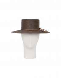 ABROAD: Wide brim bolero hat in brown