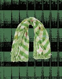 TERRIFIC: Sciarpa a quadri crema e verde con stampa floreale