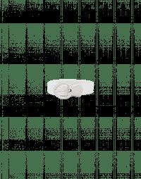 HULA: Cintura sottile bianca con fibbia a picca