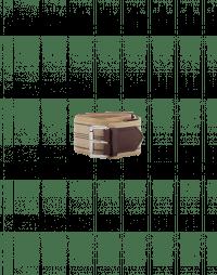 HEIST: Cintura in tessuto bianca e marrone