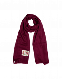 ANYHOW: Sciarpa in lana misto seta fucsia scuro