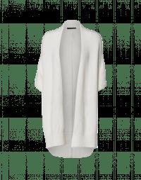 PRUDENCE: Cream wool alpaca shawl-gilet