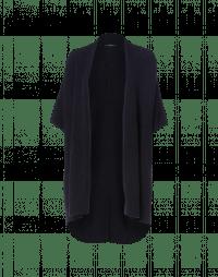 PRUDENCE: Scialle-gilet in alpaca di lana blu scuro