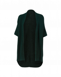 PRUDENCE: Winter green wool alpaca shawl-gilet