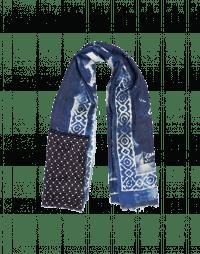 BLUEPRINT: Sciarpa in lana misto seta con motivo