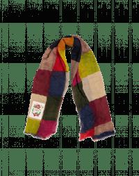FRACAS: Sciarpa in lana con motivo a losanga