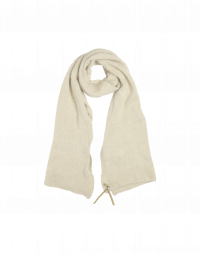 WINDSWEPT: Soft beige scarf in alpaca and wool mix