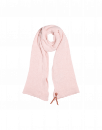 WINDSWEPT: Pale pink scarf in alpaca and wool mix