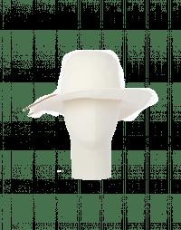 BRIMFUL: Wide brim hat in light beige wool felt