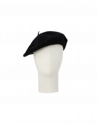 HARK: Soft beret in black wool