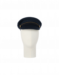 TROOPER: Peaked cap in navy wool