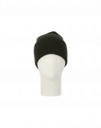 FIZZLE: Rib knit beanie hat in moss green