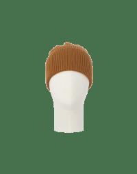 FIZZLE: Berretta in maglia color mostarda