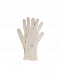 TWITCH: Cable knit gloves in ivory