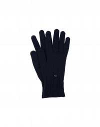 TWITCH: Cable knit gloves in navy