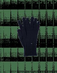TWITCH: Gestrickte, marineblaue Handschuhe