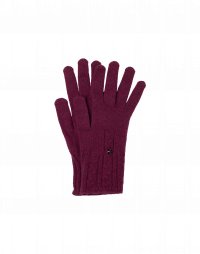 TWITCH: Cable knit gloves in burgundy