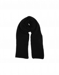 FROSTY: Scarf in black wool mix
