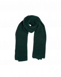FROSTY: Scarf in moss green wool mix