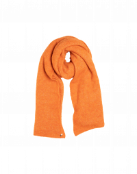 FROSTY: Scarf in pumpkin orange wool mix