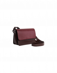 STATUS: Shoulder bag with contrast colour fold-over flap