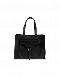 RETRIEVE: Black leather
