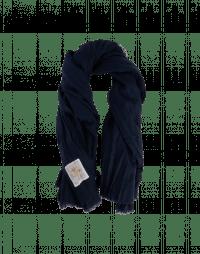 WRAP-AROUND: Large scarf in pre-wrinkled navy wool