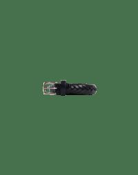 ROTATION: Cintura in pelle intrecciata blu navy
