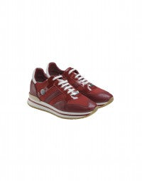 FRANTIC: Cherry patent leather luxe sneakers