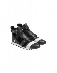 MIKO: Black cutaway sneaker boot
