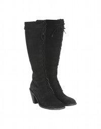 SALOON: Stivali alti in camoscio con tacco alto