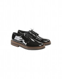 ACCORD: Black patent leather brogues