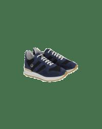 FRANTIC: Sneaker in camoscio e tessuto blu