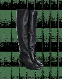 FORTITUDE: Stivali con tacco alto in pelle nera