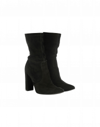 POSESS: Black suede ankle boot