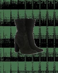 POSESS: Stivali alla caviglia in camoscio nero