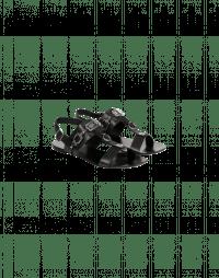 TEMPTRESS: Black t-bar sandals