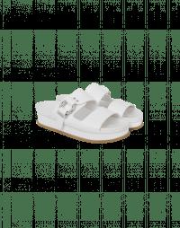 GLIDE: Sandali a ciabatta in pelle bianca